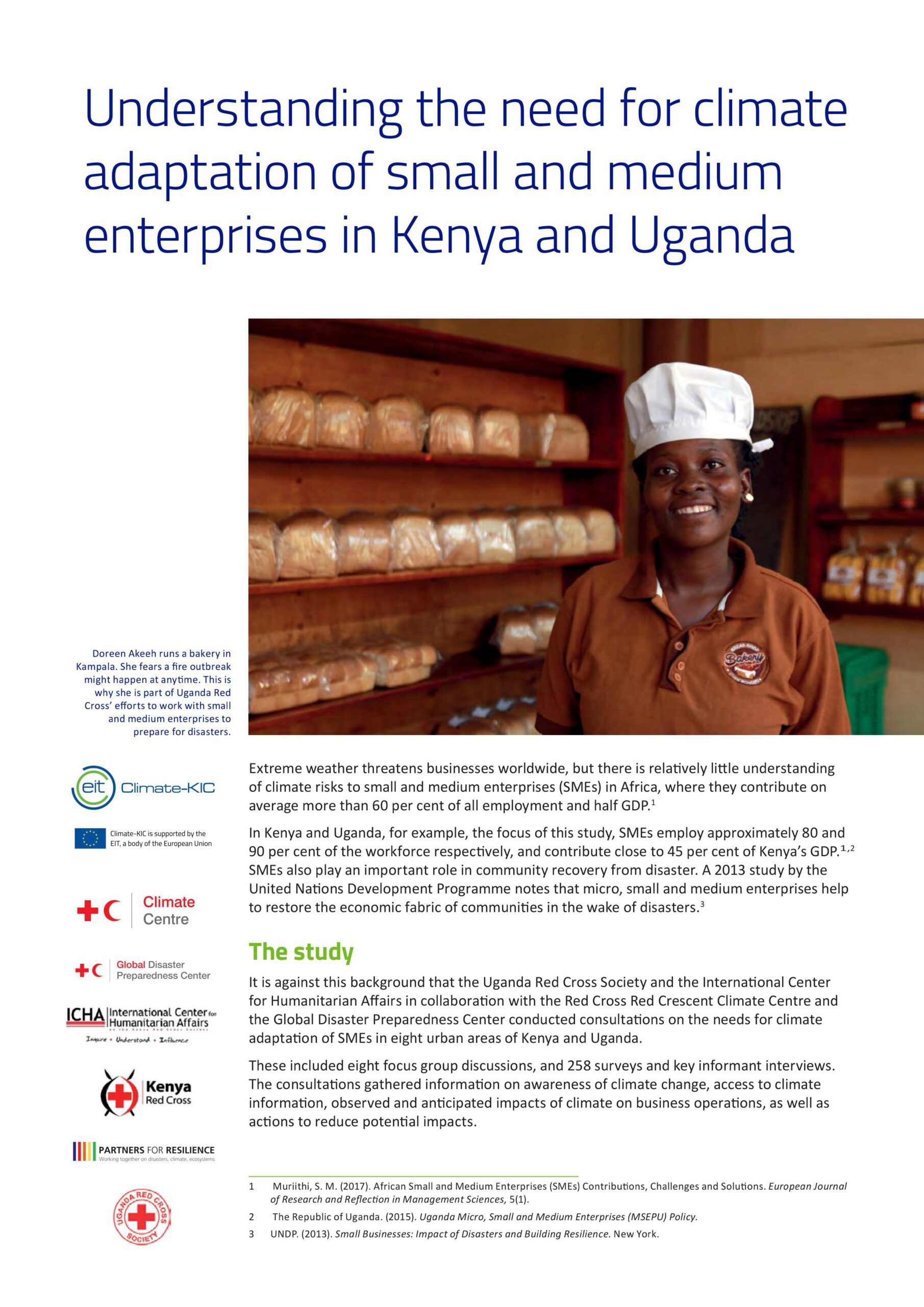 Understanding the need for climate adaptation of small and medium enterprises in Kenya and Uganda