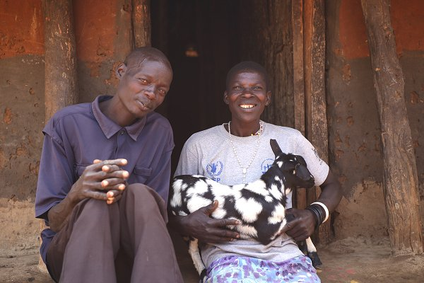 Red Cross-supported goat-rearing helps sustain households in north-east Uganda
