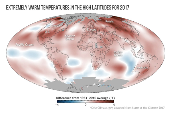 Greenhouse gases, sea levels, warm oceans, shrinking ice caps all set new records last year, say scientists