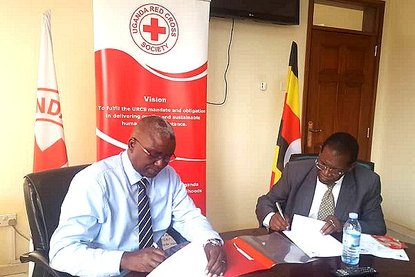 Uganda's Red Cross and met authority sign MOU