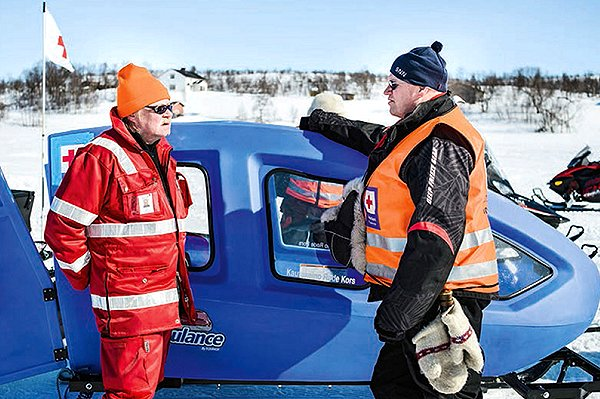 Finnish Red Cross study of Arctic disaster-management:  from air-dropped survival kits to the 'Snowbulance'