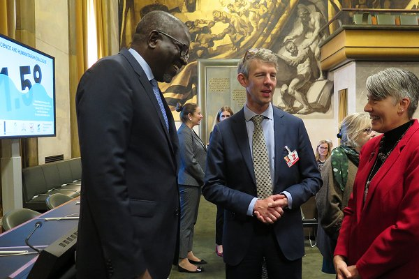 Climate: 'Count on us as partners  in the future', Elhadj As Sy tells  Geneva science-humanitarian dialogue