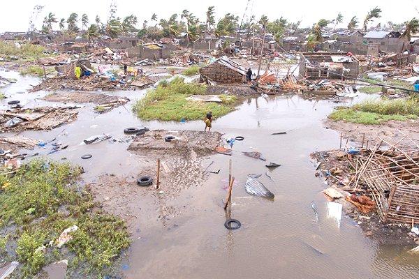 First aerial views: devastation in Beira after Cyclone Idai