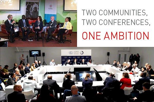 Historic virtual hook-up between humanitarians and UN climate community