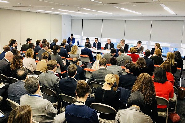 Full house for latest conflict-climate round table in New York