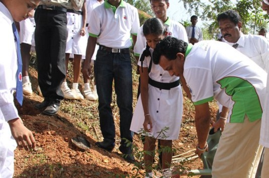 Red Cross helps Sri Lanka's children 'plant a tree to save the planet'