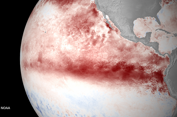 El Niño forecast to approach record strength