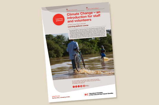 IFRC releases climate e-learning course  in four more languages