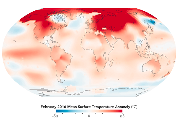 Record February global temperature shocks scientists, impacts Pacific fisheries