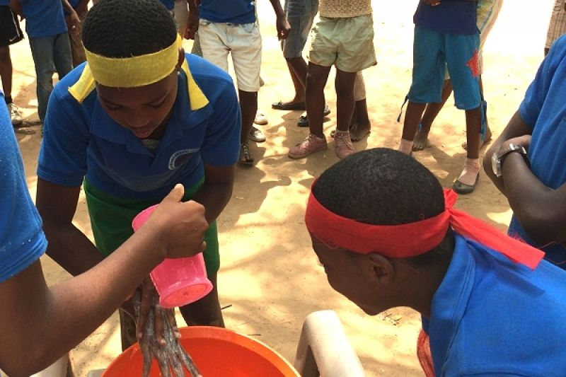 Ghana handwashing game used in schools  in Central Region