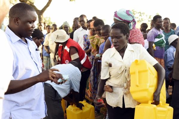 Second humanitarian distribution in Uganda under forecast-based financing