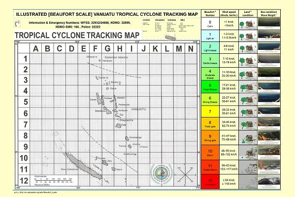New chart style for (even) better cyclone preparedness in Vanuatu