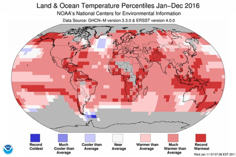 2016 sets new global temperature record
