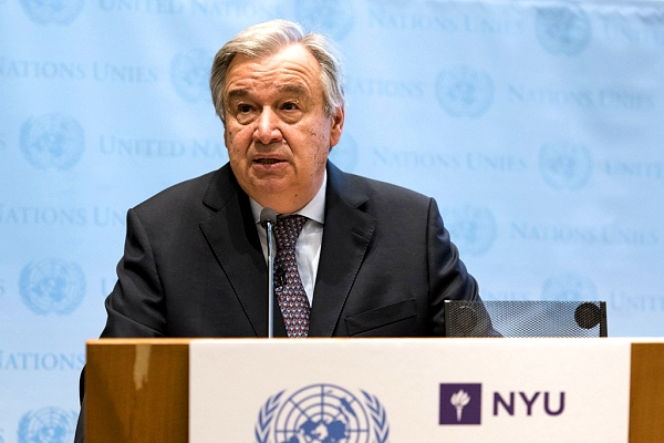 Guterres: Climate change 'far and away' tops list of global megatrends
