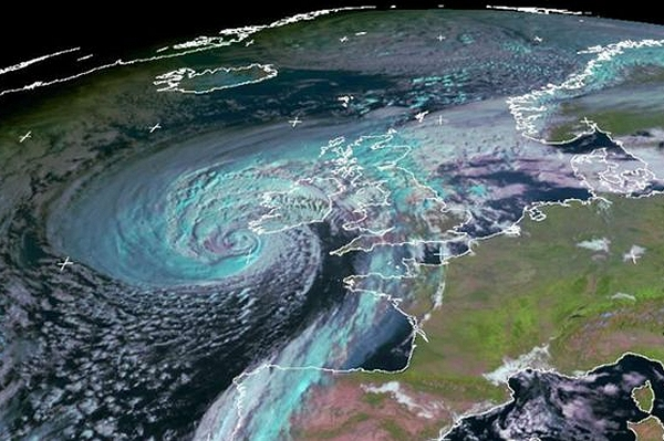 (Ex-)Hurricane Ophelia: a sign of things to come in a warmer world?