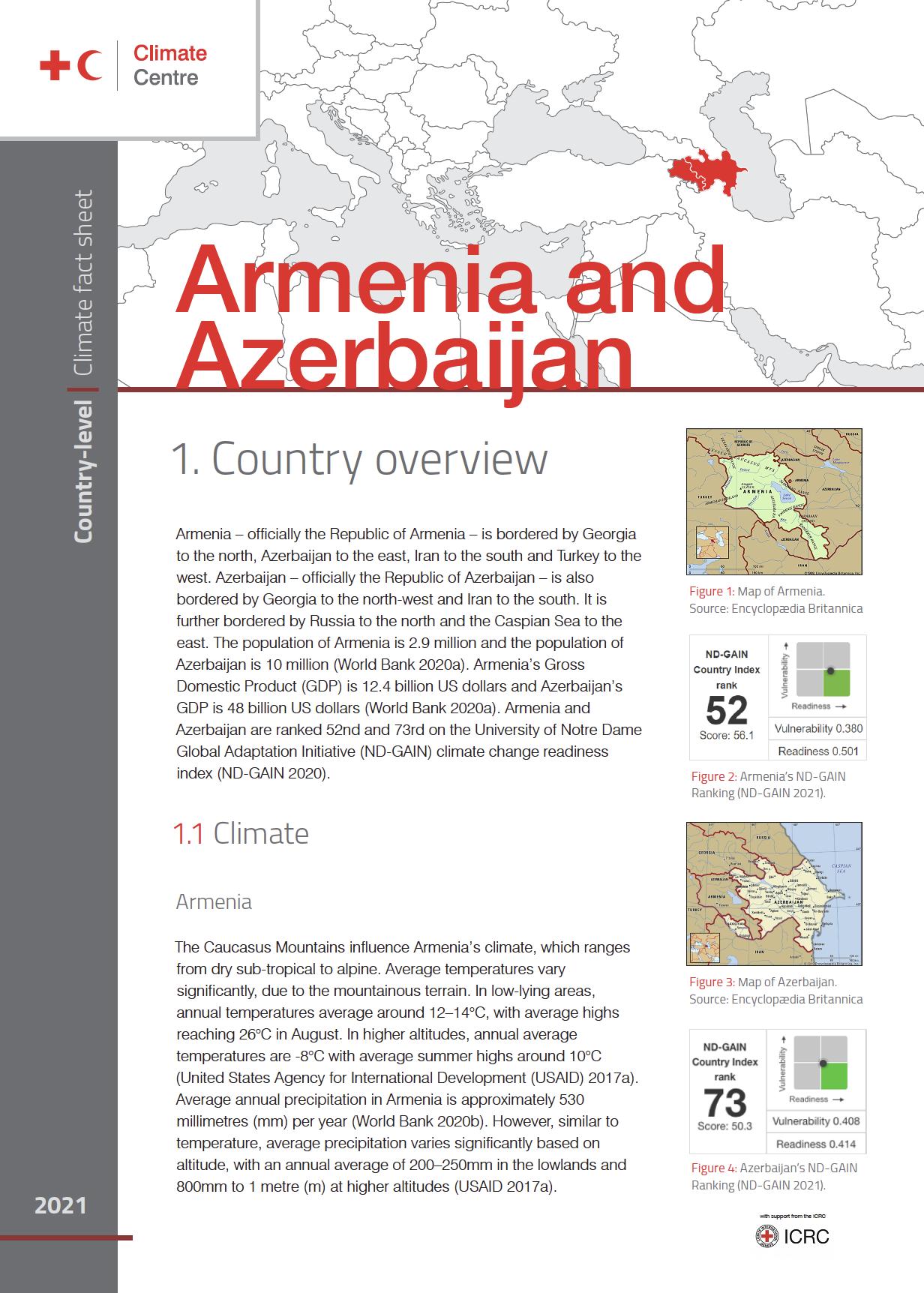 Climate Factsheet: Armenia and Azerbaijan