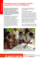 Changing tools in a changing climate: experiences from the Philippines