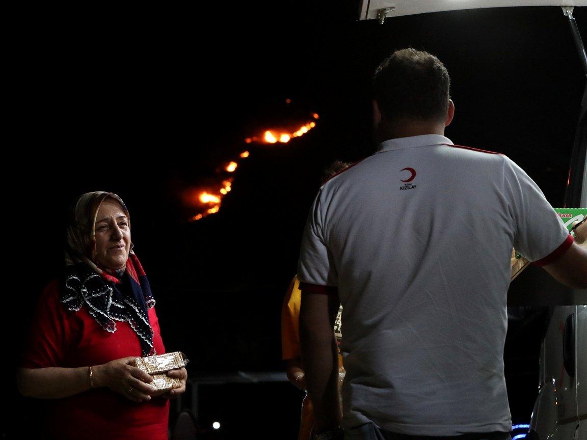 Red Cross Red Crescent volunteers respond to wildfires raging across Europe