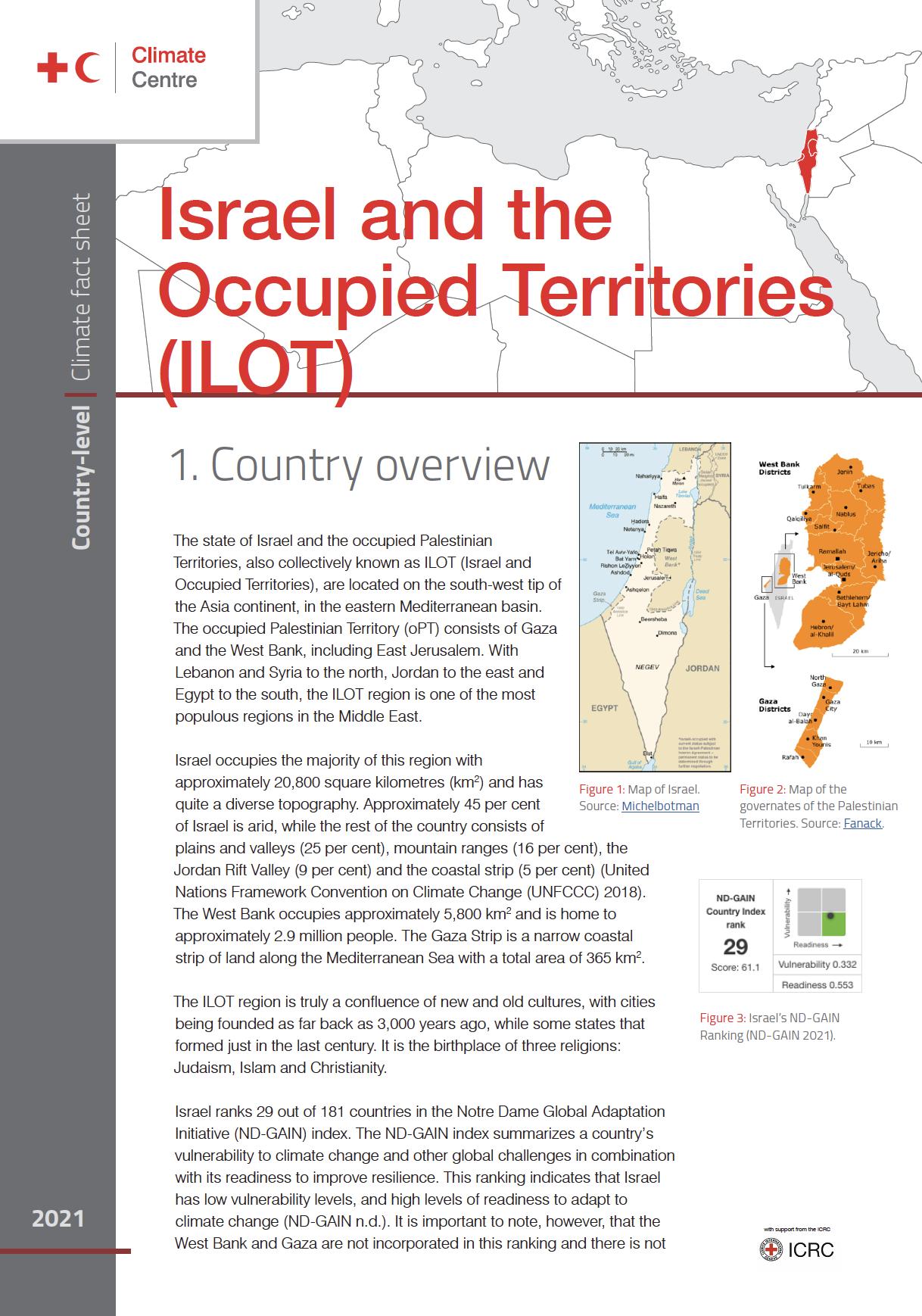 Climate Factsheet: Israel & ILOT
