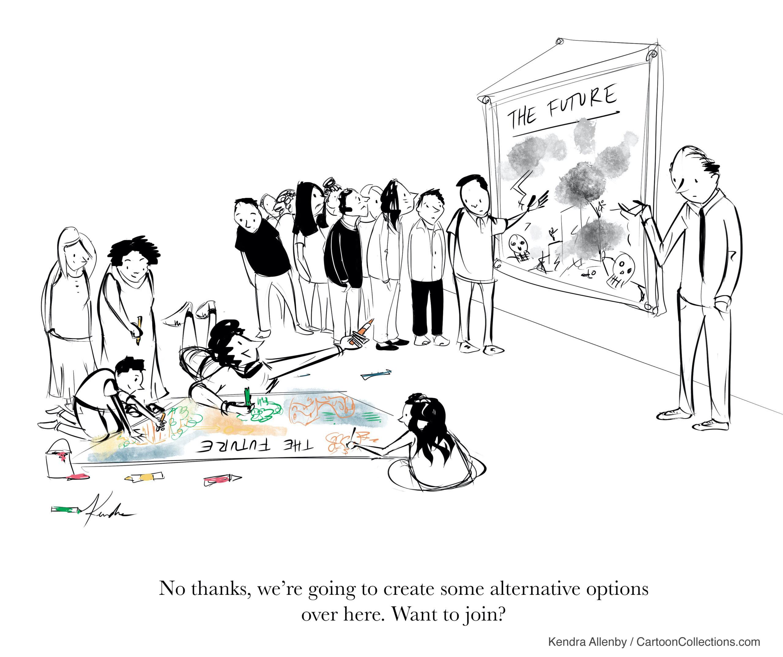 Cartoonathons: stimulating dialogue