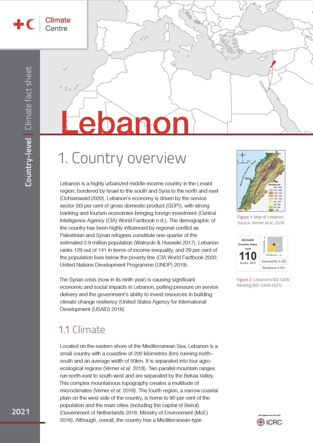 Country Factsheet: Lebanon