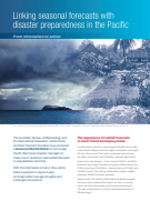 Linking seasonal forecasts with disaster preparedness in the Pacific