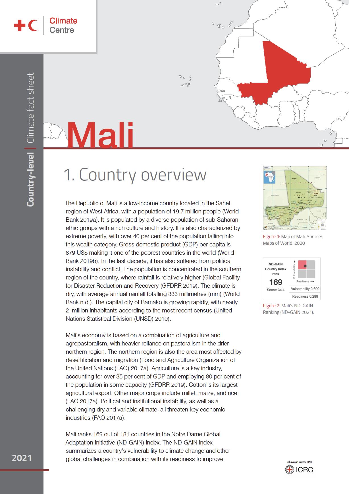 Country Factsheet: Mali