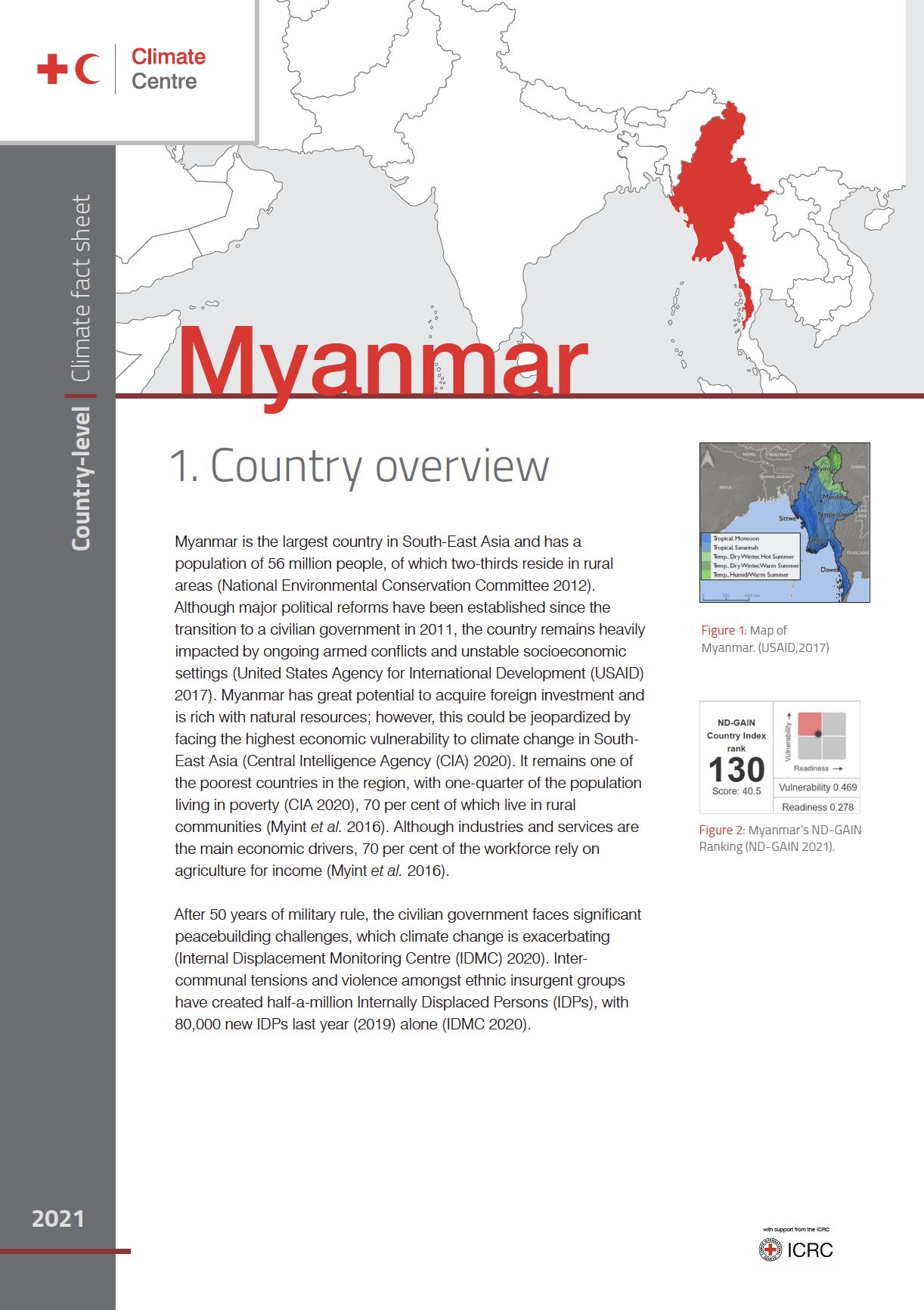 Country Factsheet: Myanmar