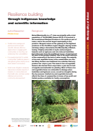 Resilience building through indigenous knowledge and scientific information
