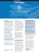 Resilience solutions: exploring social protection linkages to forecast-based financing