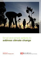 Small and simple actions to address climate change