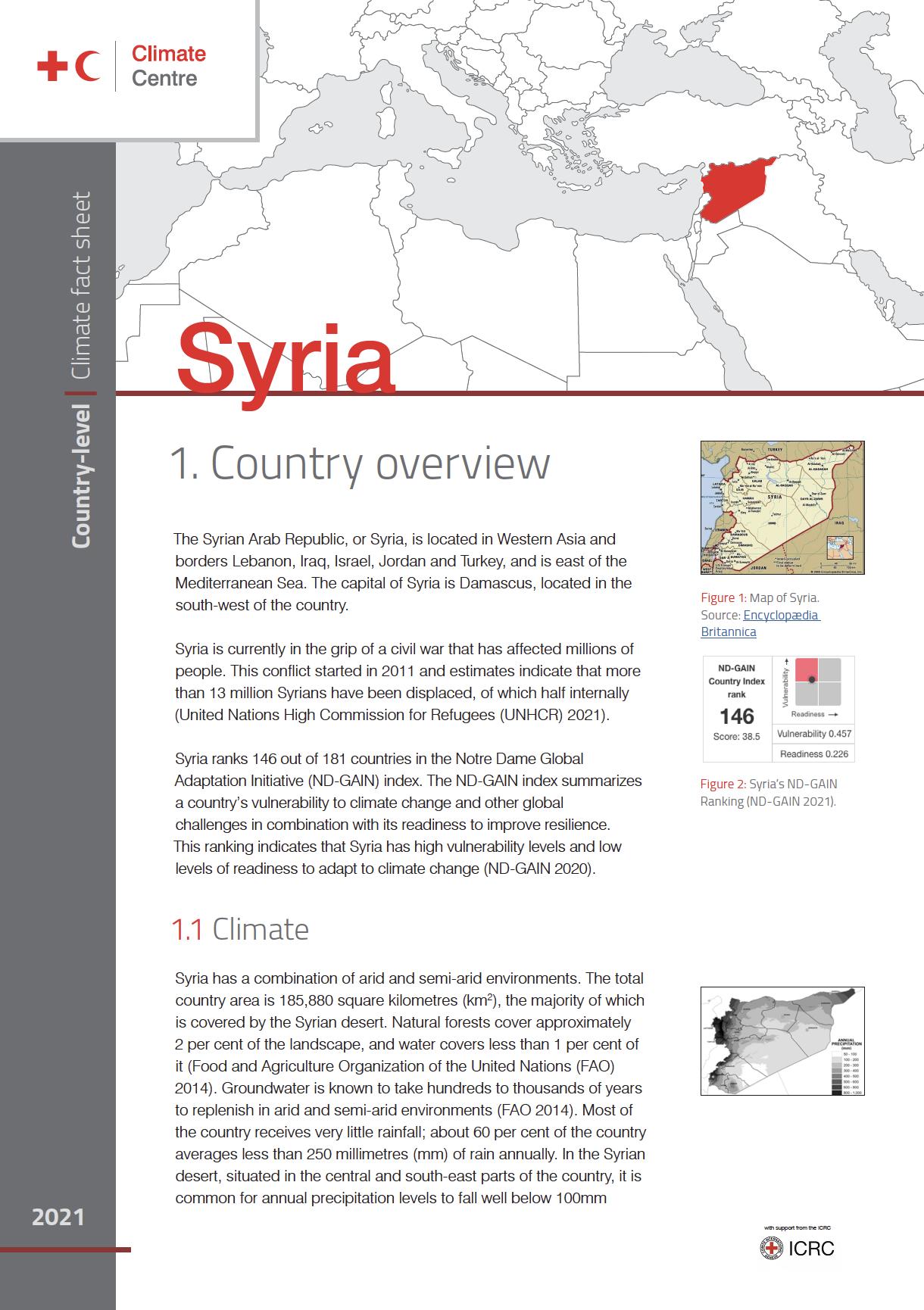 Country Factsheet: Syria
