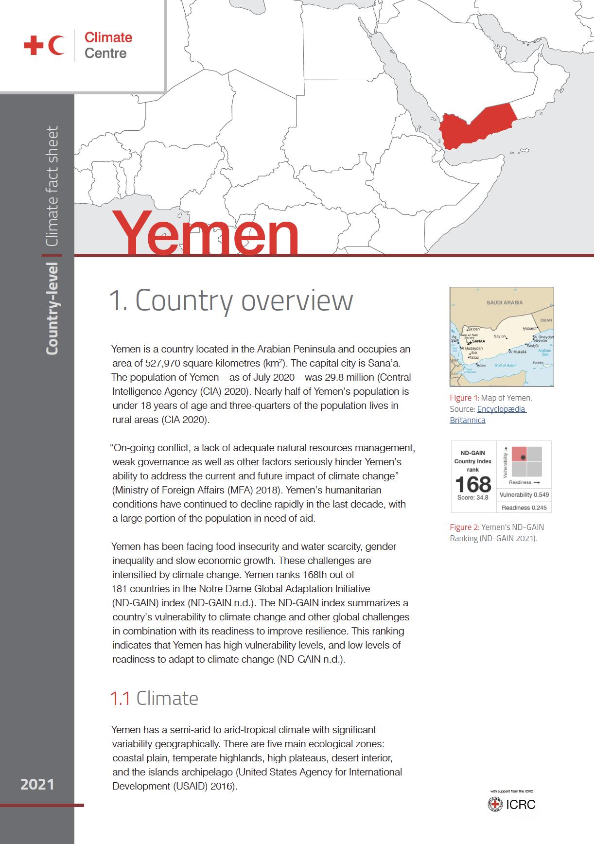 Climate Factsheet: Yemen