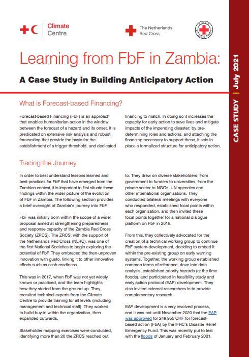 Learning from FbF in Zambia